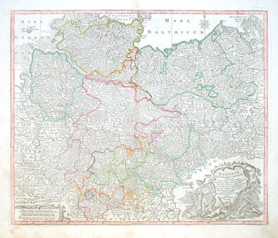 Saxoniae Inferioris Circulus - Alte Landkarte