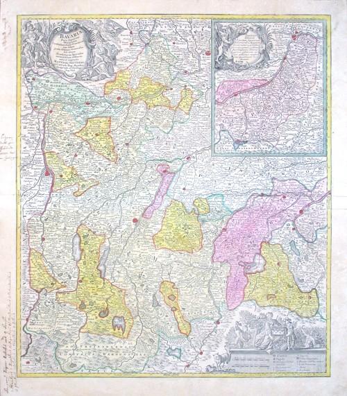 Bavariae Pars Superior - Alte Landkarte