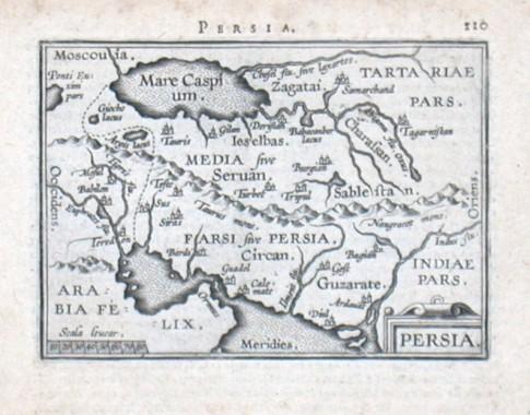 Persia - Stará mapa