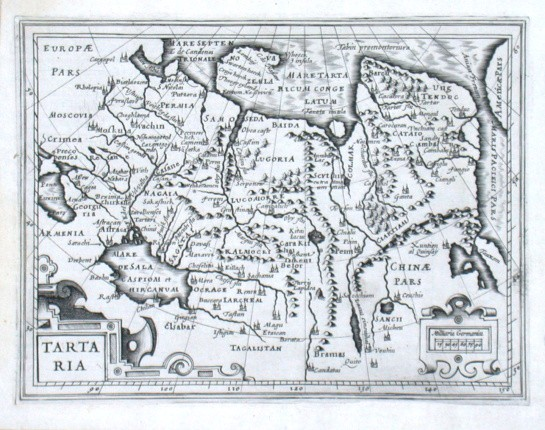 Tartaria - Stará mapa