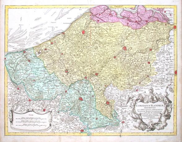 Comitatus Flandriae descriptio - Stará mapa