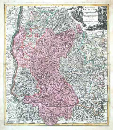 Breisgau - Accurata Delineatio Brisgoviae - Stará mapa