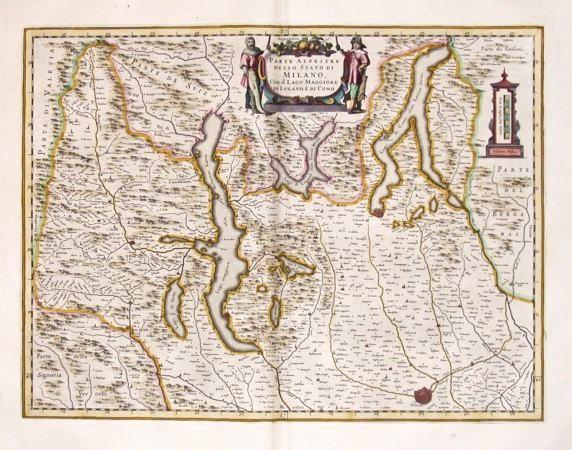 Parte Alpestre dello Stato di Milano, con il Lago Maggiore di Lugano, `e di Como - Stará mapa