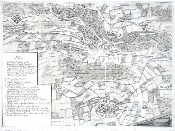 Plan De la Batille de Casane - Stará mapa