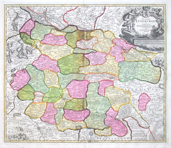 Ducatus Luneburgici et Comitatus Dannebergensis accurata Descriptio - Stará mapa