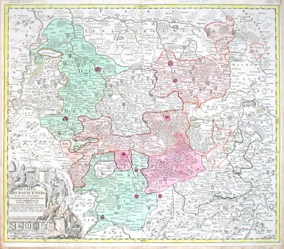 Ducatus Brunsuicensis - Alte Landkarte