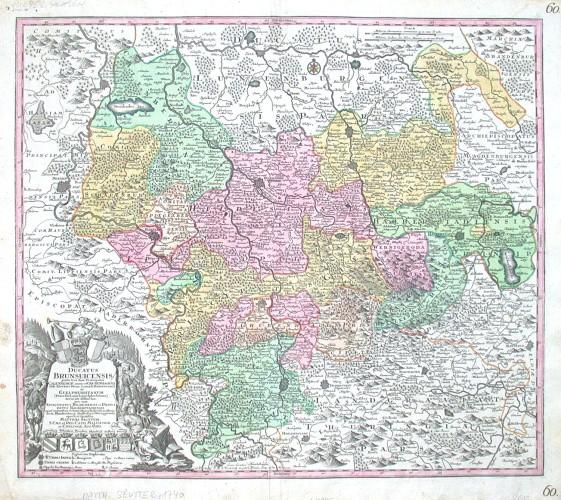 Braunschweig - Ducatus Brunsuicensis - Alte Landkarte