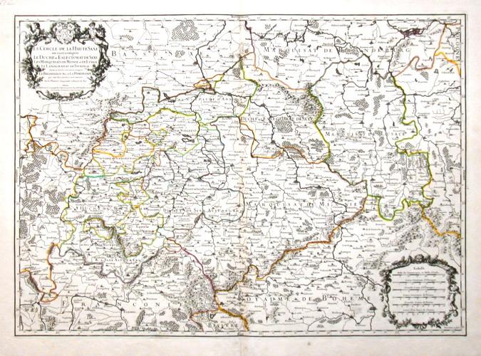 Le Cercle de la Haute Saxe - Alte Landkarte