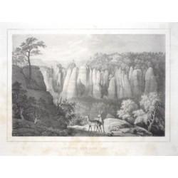 Brücke auf der Bastei von den Gansen aus