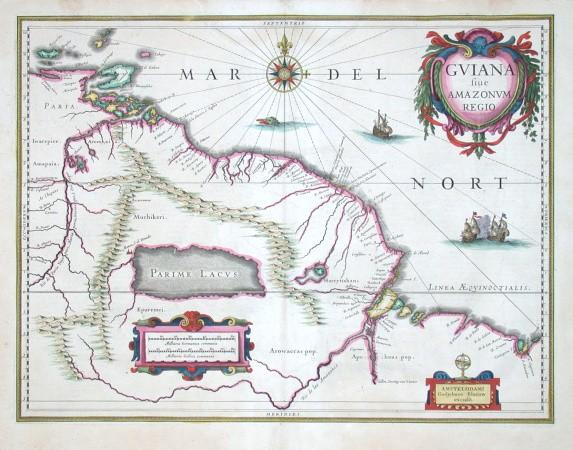 Guiana sive Amazonum regio - Antique map