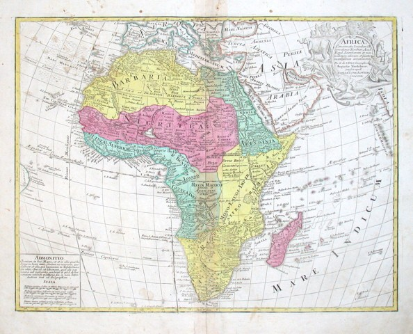 Africa - Stará mapa