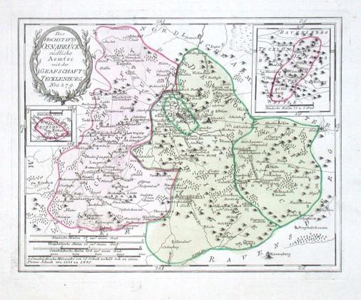 Des Hochstifts Osnabrück südliche Aemter - Stará mapa