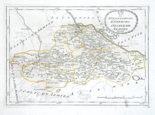 Des Fürstenthums Lüneburg Oestliche Aemter - Alte Landkarte