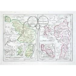 Die Staaten des Fürsten zu Nassau Weilburg. Die Ländereyen des Freyherrn von Riedesel