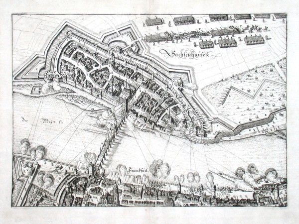 Franckfurt. Sachsenhausen - Stará mapa