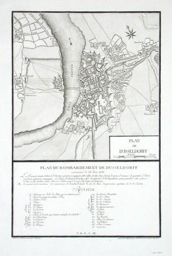 Plan de Dusseldorff - Stará mapa