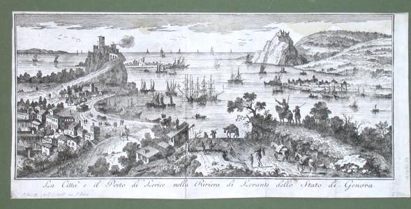 La Citta e il Porto di Lerice nella Riviera di Levante dello Stato di Genova - Alte Landkarte