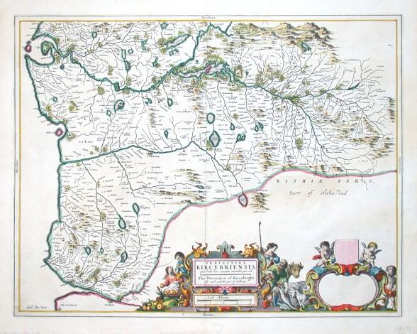 Praefectvra Kircvbriensis, quae Gallovidiae maxime orientalis pars est - Alte Landkarte