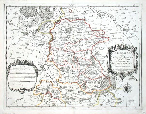 Le Limbourg, ou sont Le Duche de Limbourg, Le Comte de Dalem - Alte Landkarte