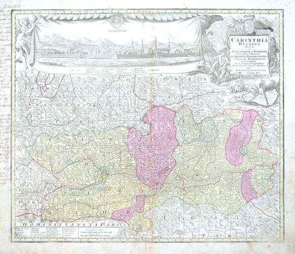 Carinthia Ducatus - Alte Landkarte