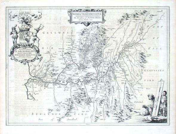Nithia Vicecomitatus - Stará mapa