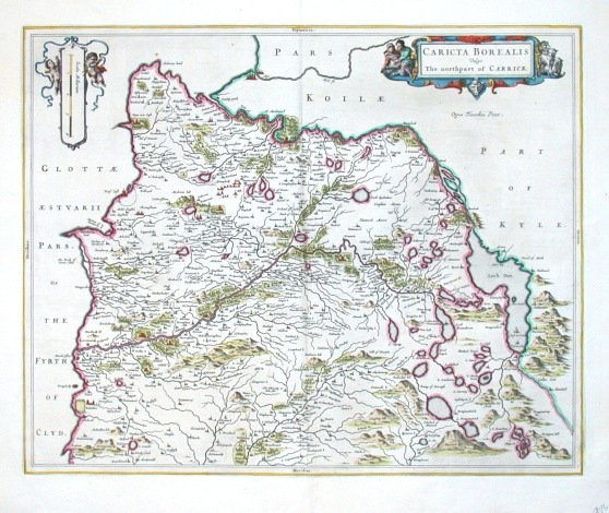 Caricta Borealis - Alte Landkarte