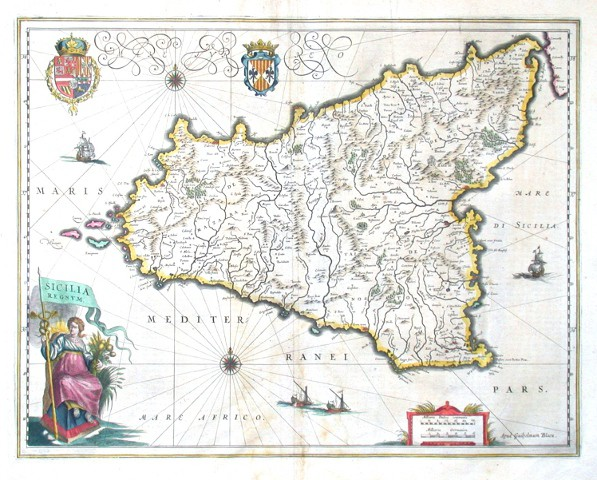 Sicilia Regnvm - Alte Landkarte