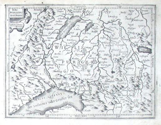 Das Wiflispurgergou - Alte Landkarte