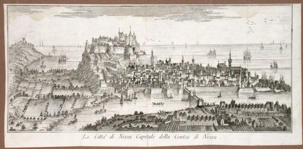 La Citta di Nizza Capitale della Contea di Nizza - Alte Landkarte