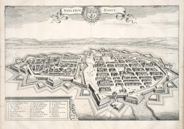 Nanceium - Nancy - Alte Landkarte