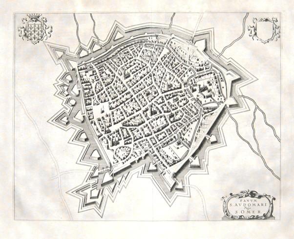 Fanvm S. Avdomari Vulgo S. Omer - Alte Landkarte