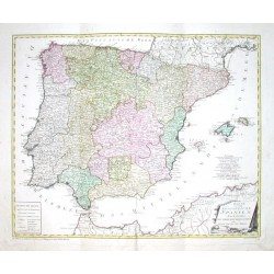 Karte von dem Königreiche Spanien