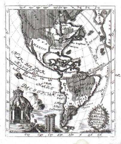 Zur V. Haup. Kar. 1. Neben Kart. America Nach der Religion - Alte Landkarte