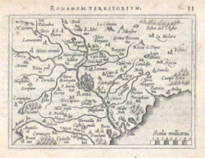 Řím - Romanum Territorium - Stará mapa