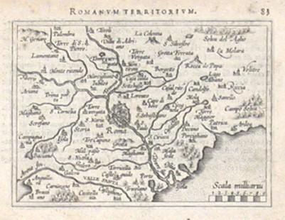 Rom - Romanum Territorium - Alte Landkarte