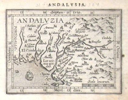 Andaluzia - Alte Landkarte