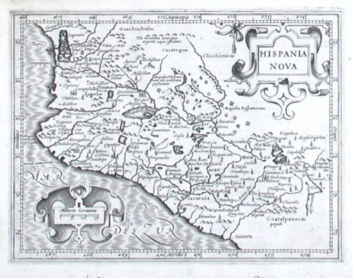 Hispania Nova - Alte Landkarte