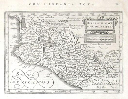 Hispaniae Novae nova descriptio - Alte Landkarte