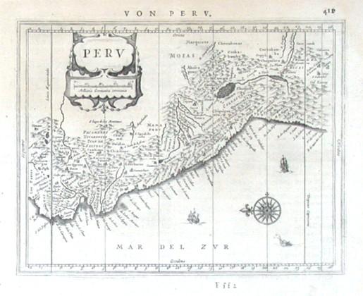 Peru - Alte Landkarte
