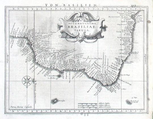 Accuratissima Brasiliae Tabula - Alte Landkarte