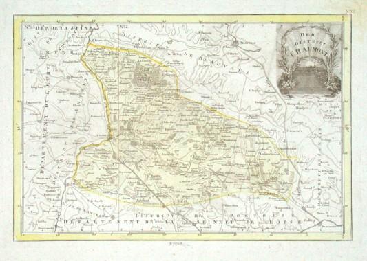 Der District Chaumont - Stará mapa