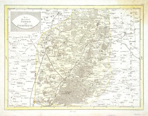 Der District Noyon und Compiegne - Stará mapa