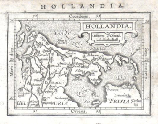 Hollandia - Alte Landkarte