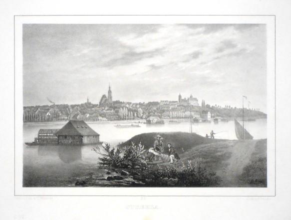Strehla - Alte Landkarte