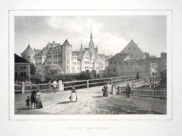 Schloss Hartenfels in Torgau - Stará mapa
