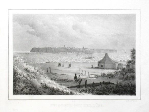 Helgoland mit der Düne - Alte Landkarte