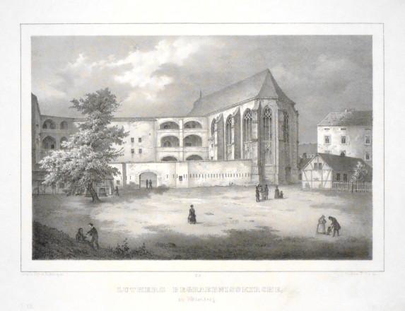 Luthers Begraebnisskirche zu Wittenberg - Alte Landkarte
