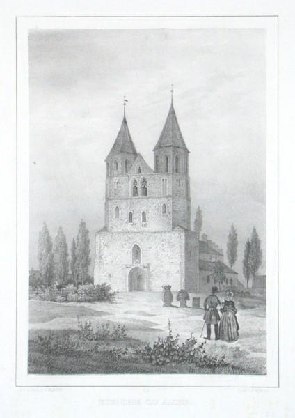 Kirche zu Aken - Alte Landkarte