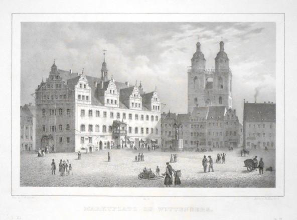 Marktplatz zu Wittenberg - Stará mapa
