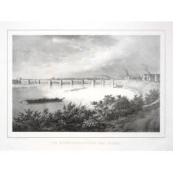 Die Eisenbahnbrücke bei Riesa